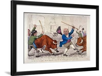 Miseries of Human Life, Smithfield Market, London, C1800-George Moutard Woodward-Framed Giclee Print