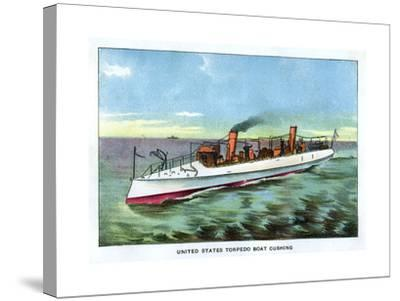 United States Torpedo Boat 'Cushing', 1890S--Stretched Canvas Print