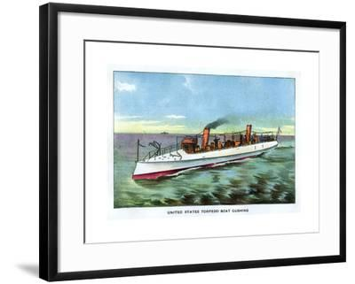United States Torpedo Boat 'Cushing', 1890S--Framed Giclee Print
