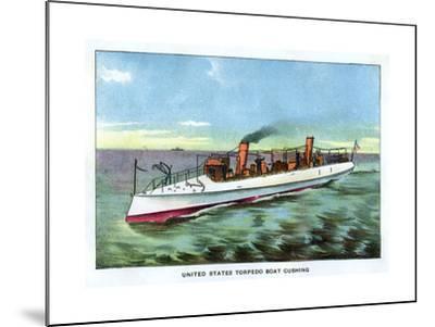 United States Torpedo Boat 'Cushing', 1890S--Mounted Giclee Print