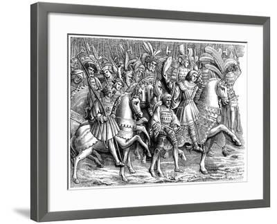 Meeting at the Field of the Cloth of Gold, C16th Century--Framed Giclee Print