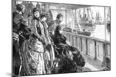 The Queen Reviewing the Fleet at Spithead, Hampshire, Late 19th Century--Mounted Giclee Print