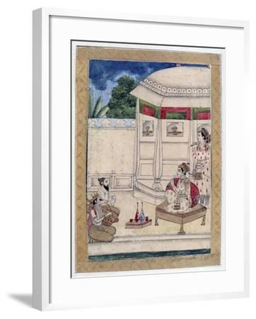 Sri Raga, Ragamala Album, School of Rajasthan, 19th Century--Framed Giclee Print