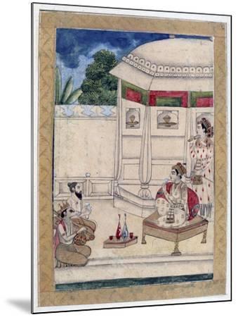 Sri Raga, Ragamala Album, School of Rajasthan, 19th Century--Mounted Giclee Print