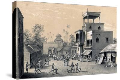 Chittapore Road, Calcutta, 1847-B Clayton-Stretched Canvas Print