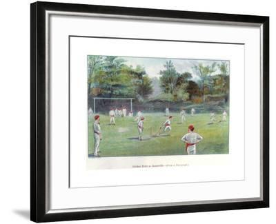 Cricket Field at Bournville, 1892--Framed Giclee Print