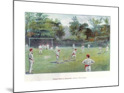 Cricket Field at Bournville, 1892--Mounted Giclee Print