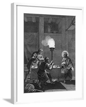 Christ and the Two Disciples at Emmaus, 1814--Framed Giclee Print