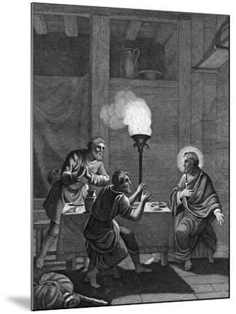 Christ and the Two Disciples at Emmaus, 1814--Mounted Giclee Print