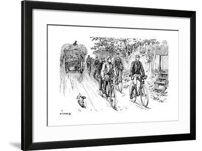 A British Cycle Club Out for a Country Ride, 1895--Framed Giclee Print