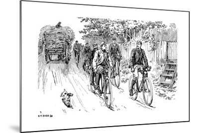 A British Cycle Club Out for a Country Ride, 1895--Mounted Giclee Print