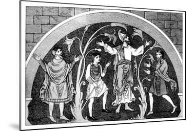Saxon Dress--Mounted Giclee Print
