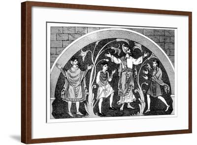 Saxon Dress--Framed Giclee Print