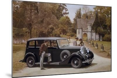 Poster Advertising Rolls-Royce Cars, 1939--Mounted Giclee Print
