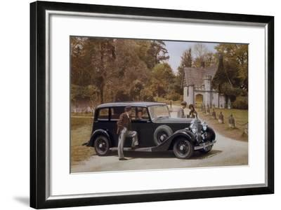 Poster Advertising Rolls-Royce Cars, 1939--Framed Giclee Print