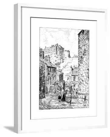 Edinburgh Castle as Seen from the Vennel, 1911-1912--Framed Giclee Print