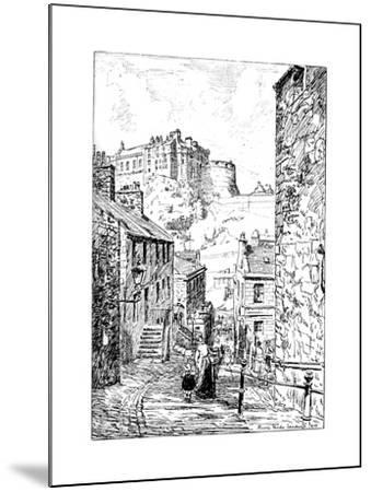 Edinburgh Castle as Seen from the Vennel, 1911-1912--Mounted Giclee Print