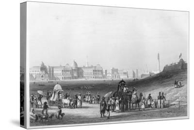 View of Calcutta from the Esplanade, C1860--Stretched Canvas Print
