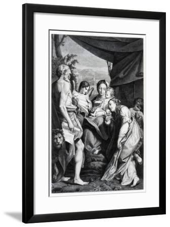 Madonna and Child with St Jerome and Mary Magdalen, 1525-1528- Fontana-Framed Giclee Print