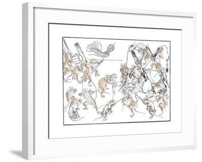 Retribution, the Rats and the Cat, 1878-Kiosai Kiosai-Framed Giclee Print