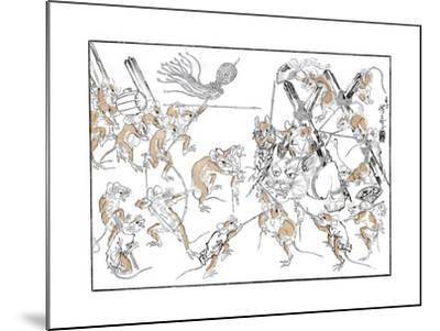 Retribution, the Rats and the Cat, 1878-Kiosai Kiosai-Mounted Giclee Print