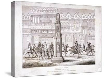 View of Cheapside Cross, London, 1809--Stretched Canvas Print