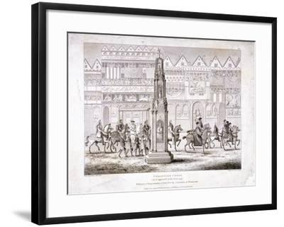 View of Cheapside Cross, London, 1809--Framed Giclee Print