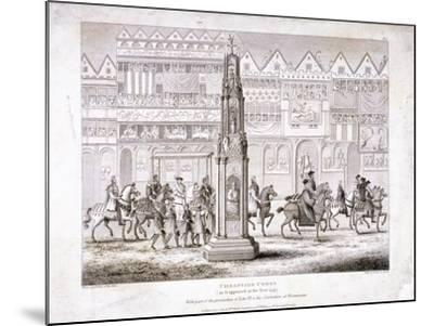 View of Cheapside Cross, London, 1809--Mounted Giclee Print