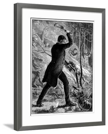 Charles Kingsley Fighting a Fire, British Writer and Cleric--Framed Giclee Print