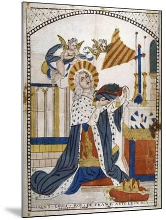 Louis IX, King of France, in Chartres Cathedral in His Coronation Robes, 1226--Mounted Giclee Print