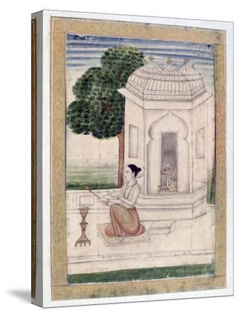 Bamgali Ragini, Ragamala Album, School of Rajasthan, 19th Century--Stretched Canvas Print