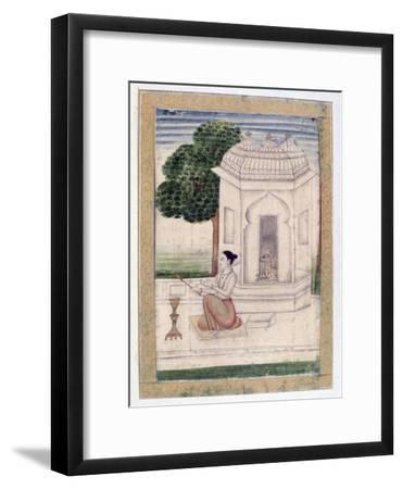Bamgali Ragini, Ragamala Album, School of Rajasthan, 19th Century--Framed Giclee Print