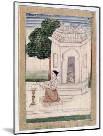 Bamgali Ragini, Ragamala Album, School of Rajasthan, 19th Century--Mounted Giclee Print