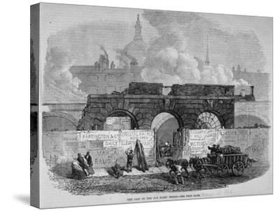 The Remains of Fleet Prison, City of London, 1868--Stretched Canvas Print