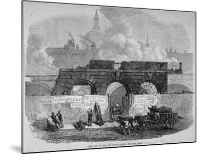 The Remains of Fleet Prison, City of London, 1868--Mounted Giclee Print
