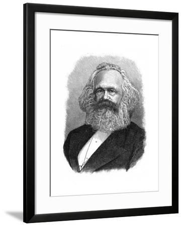 Karl Marx, 19th Century German Political, Social and Economic Theorist--Framed Giclee Print