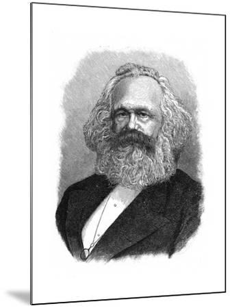 Karl Marx, 19th Century German Political, Social and Economic Theorist--Mounted Giclee Print