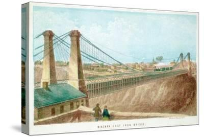 Niagara Cast Iron Bridge, New York, USA, C1855-C1860--Stretched Canvas Print