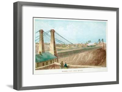 Niagara Cast Iron Bridge, New York, USA, C1855-C1860--Framed Giclee Print
