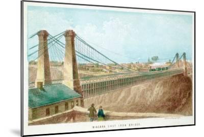 Niagara Cast Iron Bridge, New York, USA, C1855-C1860--Mounted Giclee Print