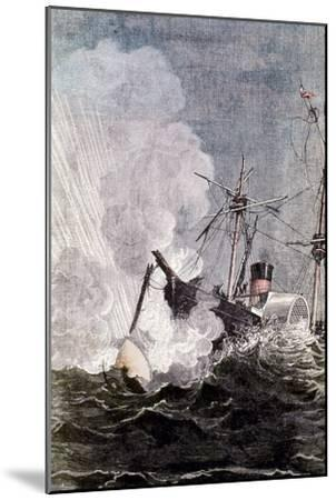 Scene from Jules Verne's from the Earth to the Moon, 1865--Mounted Giclee Print
