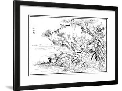River Scene, 16th Century-Kano Motonobu-Framed Giclee Print