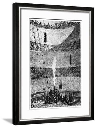 Illustration from De La Terre a La Lune by Jules Verne, 1865--Framed Giclee Print
