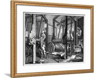 Weaving at Spitalfields, London, 1747-William Hogarth-Framed Giclee Print