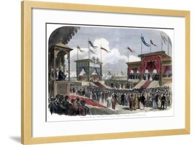 The Opening of the Suez Canal, Port Said, Egypt, 17 November 1869--Framed Giclee Print