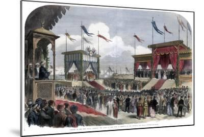 The Opening of the Suez Canal, Port Said, Egypt, 17 November 1869--Mounted Giclee Print