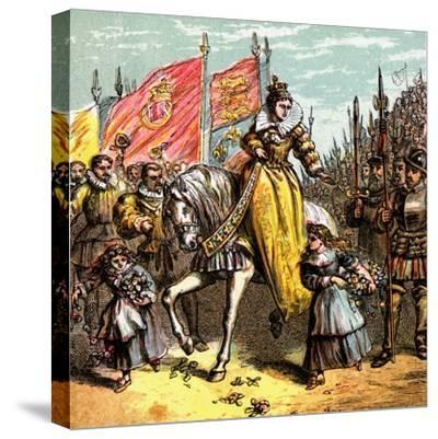 Queen Elizabeth's Accession, 1558--Stretched Canvas Print