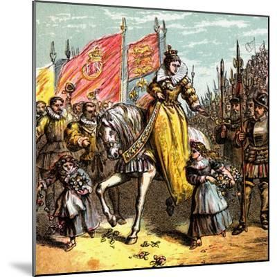 Queen Elizabeth's Accession, 1558--Mounted Giclee Print