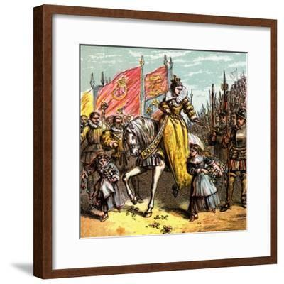 Queen Elizabeth's Accession, 1558--Framed Giclee Print