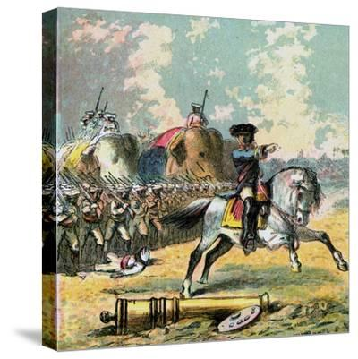 Clive's Victories in India, C1850s--Stretched Canvas Print